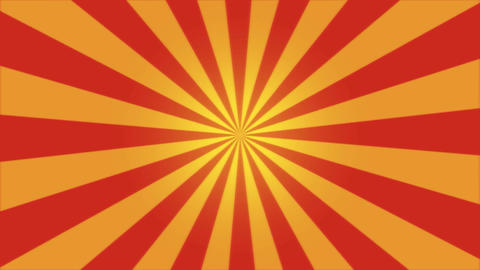 Rotating Stripes Background Animation - Loop Red Animation