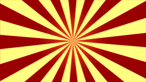 Rotating Stripes Background Animation - Loop Red Yellow Animation