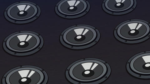 Music Speakers background (Black) Animation