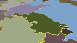 Jiangsu - China province extruded. Solids Animation