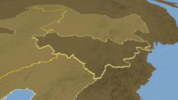 Jilin - China province extruded. Bumps Animation