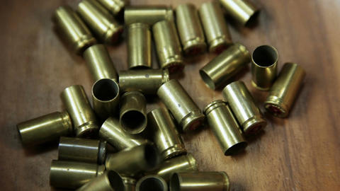 Group of bullet shells center frame Archivo