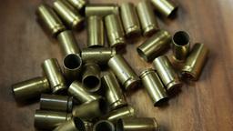 Group of bullet shells center frame 4 K UHD Image