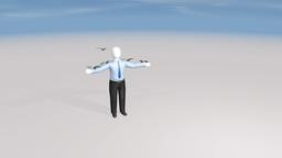 money landing on man Stock Video Footage
