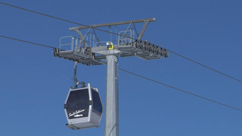 cableway 05 Stock Video Footage