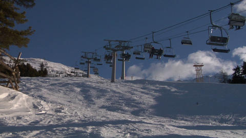 chair lift 02 Stock Video Footage