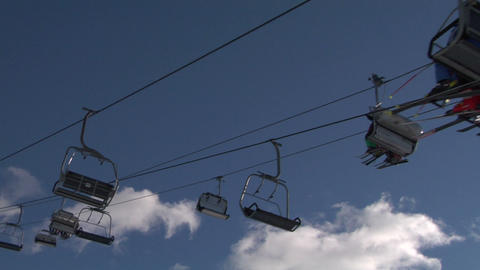 chair lift 04 Stock Video Footage