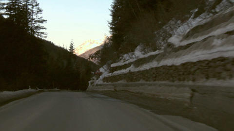 Mountain road 02 Stock Video Footage