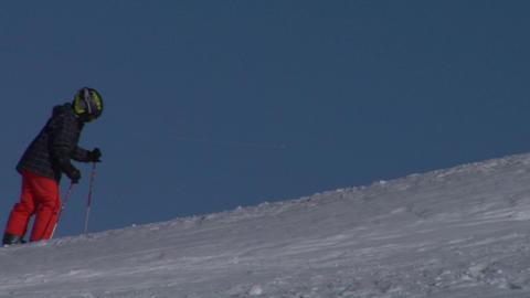 skier 02 Stock Video Footage