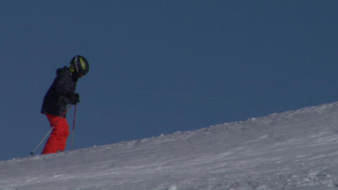 skier 02 Stock Video Footage