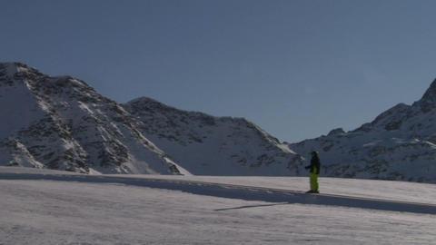 skier 06 Stock Video Footage