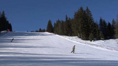 skier slow 01 Stock Video Footage