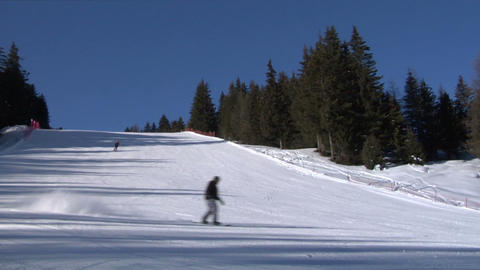 skier slow 01 Stock Video Footage