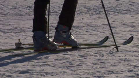 ski boot 01 Stock Video Footage