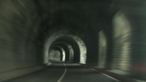 Tunnel road 01 Stock Video Footage