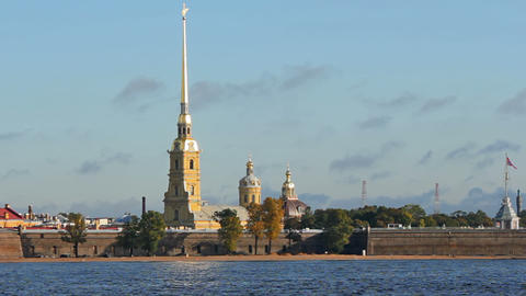 Peter and Paul Fortress in the morning Footage