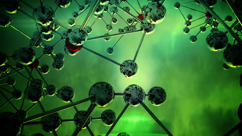 Abstract Molecular Structure. v3 Stock Video Footage