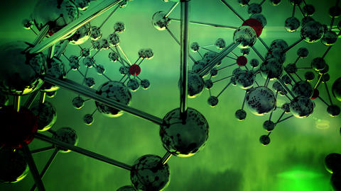 Abstract Molecular Structure. v3 Animation