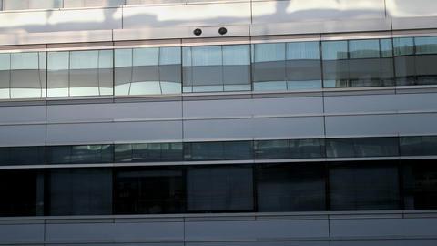 building windows sunrise Stock Video Footage