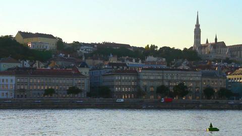 Budapest Hungary Buda View Stock Video Footage