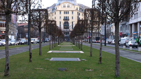 Budapest Hungary Street 04 Stock Video Footage