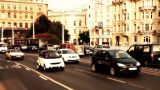 Elizabeth Bridge Traffic Budapest Hungary 05 stylized artsoft filmlook Footage