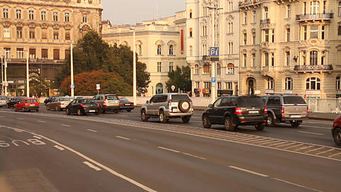 Elizabeth Bridge Traffic in Budapest Hungary 05 neutral Stock Video Footage