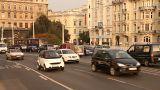 Elizabeth Bridge Traffic in Budapest Hungary 05 neutral Footage
