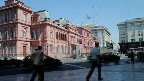 Pink Palace Timelapse Stock Video Footage