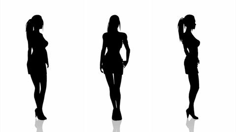 Woman Silhouette Stock Video Footage