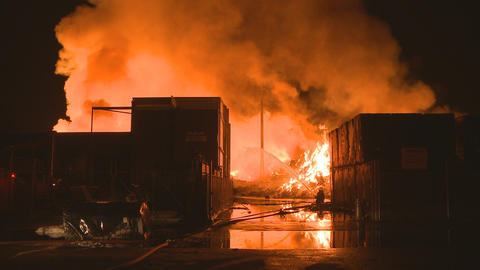 large industrial fire Stock Video Footage