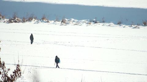 People on ice 6 Stock Video Footage