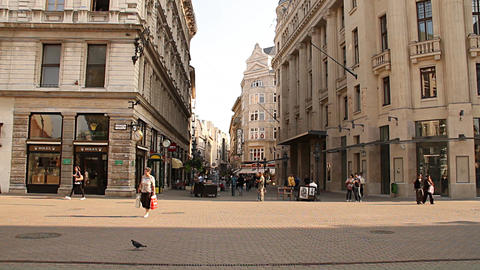 European City Street Budapest Hungary 01 neutral Stock Video Footage