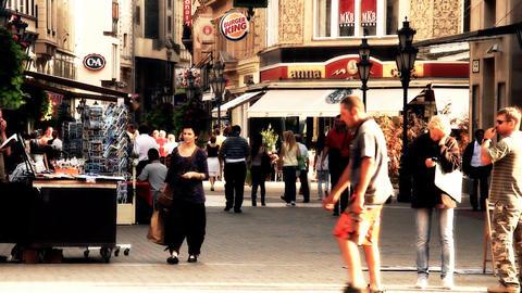 European City Street Budapest Hungary 15 stylized artsoft... Stock Video Footage