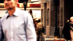 European City Street Budapest Hungary 17 stylized artsoft... Stock Video Footage