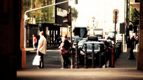 European City Street Budapest Hungary 22 stylized artsoft filmlook Footage