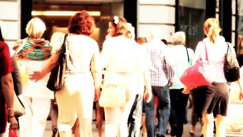 European City Street Budapest Hungary 26 stylized artsoft... Stock Video Footage