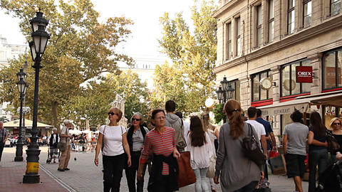 European City Street Budapest Hungary 08 neutral Stock Video Footage