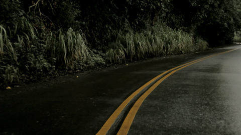 Country road electric yellow lines Stock Video Footage