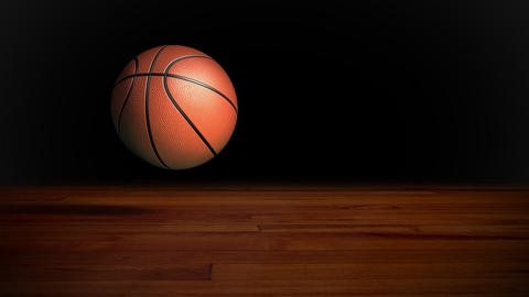basketball stay at ground Stock Video Footage