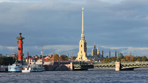 Peter and Paul Fortress, Rostral Column and Palace Footage