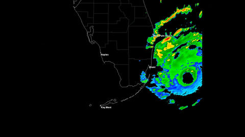 Hurricane Andrew Landfall Time Lapse Stock Video Footage
