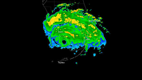 Hurricane Andrew Landfall Time Lapse Animation