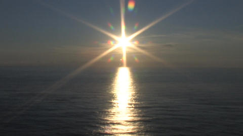 Shining Sun Over Ocean Stock Video Footage
