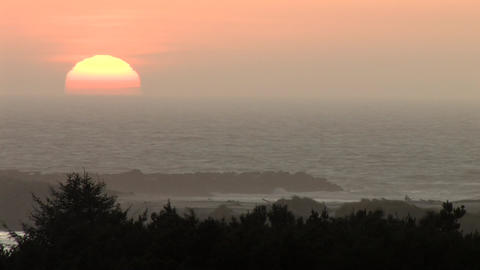 Ocean Waves at Sunset Stock Video Footage