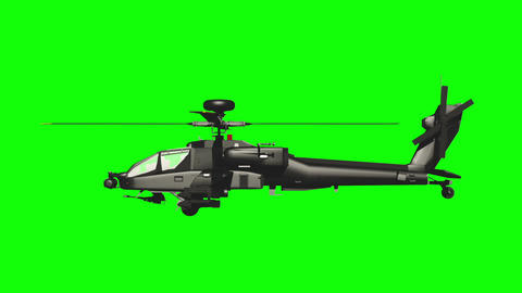 Apache GS side loop 03 Stock Video Footage