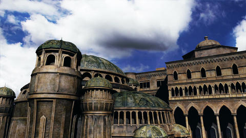 Byzantine Constantinaples Clouds Timelapse 02 Stock Video Footage