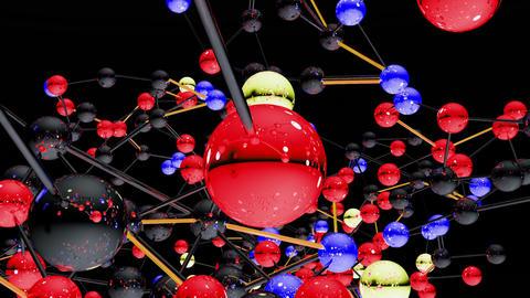 Complex Molecule Structure 04 Stock Video Footage