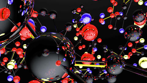 Complex Molecule Structure 06 Stock Video Footage