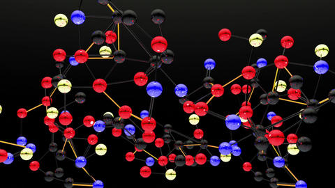 Complex Molecule Structure 08 Stock Video Footage